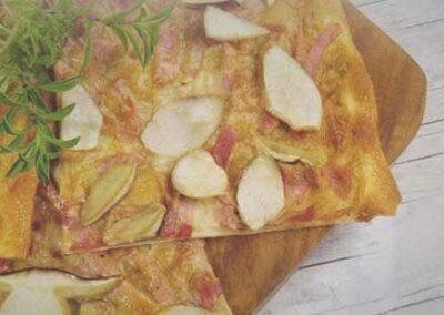 Flammkuchen mit Mushroom-Bruschetta